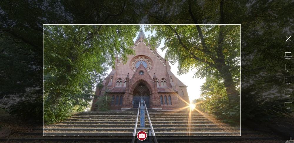 Fotofunktion für virtuelle 360°-Stadttour durch Halle Saale