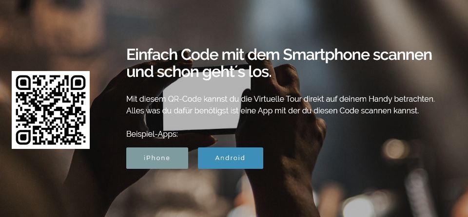 QR Code für virtuelle 360°-Stadttour durch Halle Saale