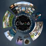 Creoli 360°-3D-Menü Halle dreht sich